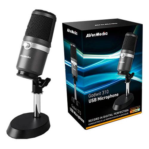 Avermedia USB Microphone  Gris - Micro-casque - Cybertek.fr - 0