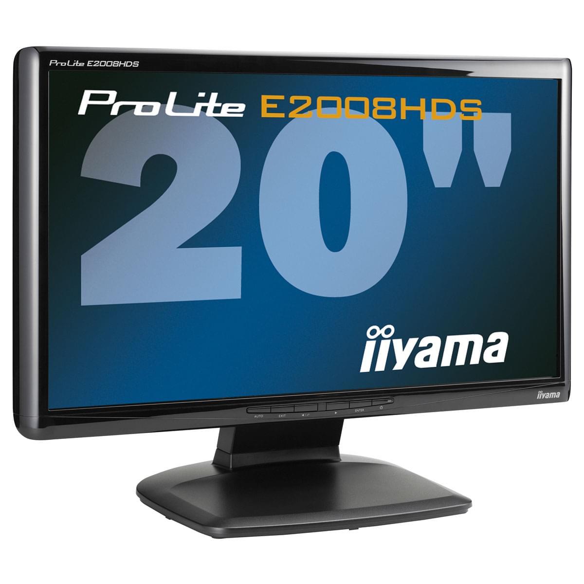 "Iiyama 20""  PLE2008HDS-B1 - Ecran PC Iiyama - Cybertek.fr - 0"