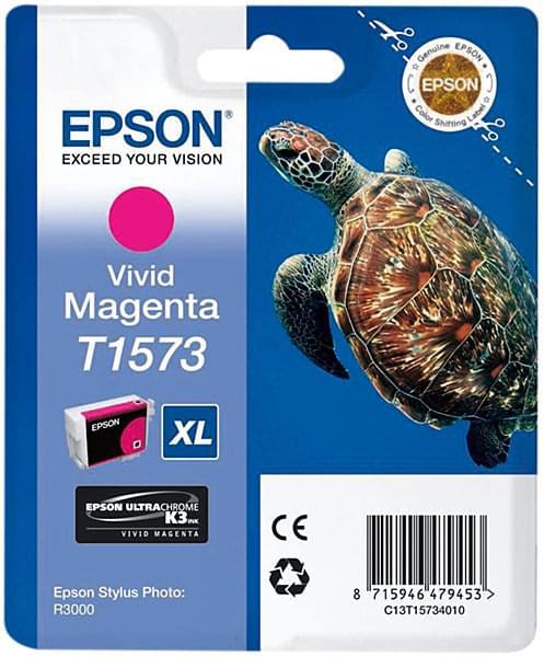Cartouche T1573 Magenta pour imprimante Jet d'encre Epson - 0