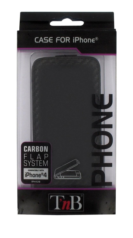 T'nB Etui simili-cuir rabat aimanté pour iPhone 4 (IPH42B) - Achat / Vente Accessoire Téléphonie sur Cybertek.fr - 0