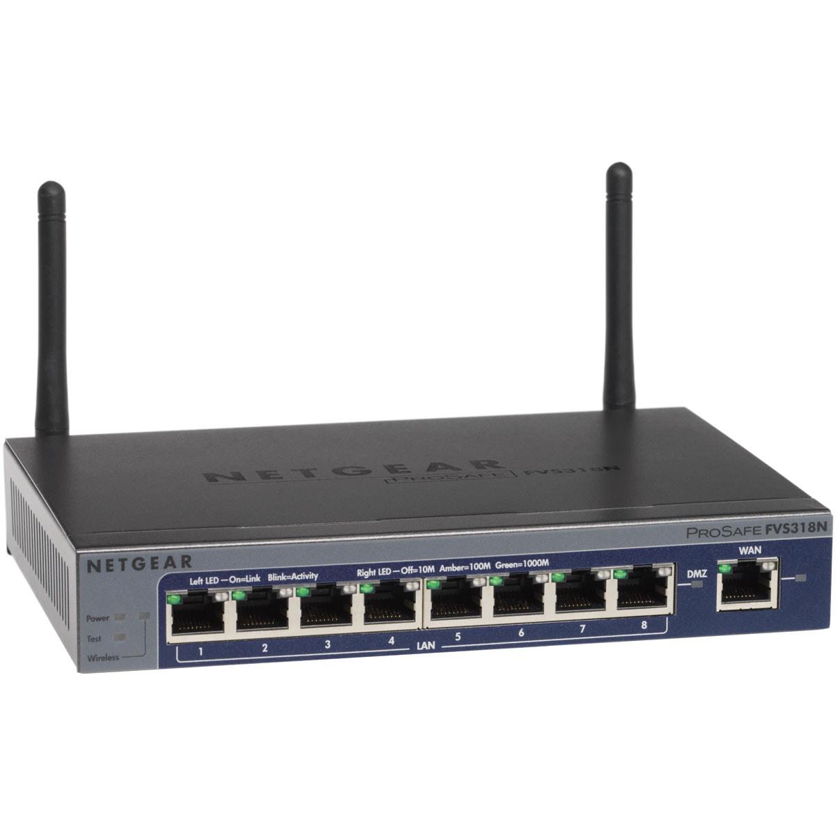 Netgear ProSafe FVS318N - WiFi/Gigabit/8 ports - Routeur Netgear - 0