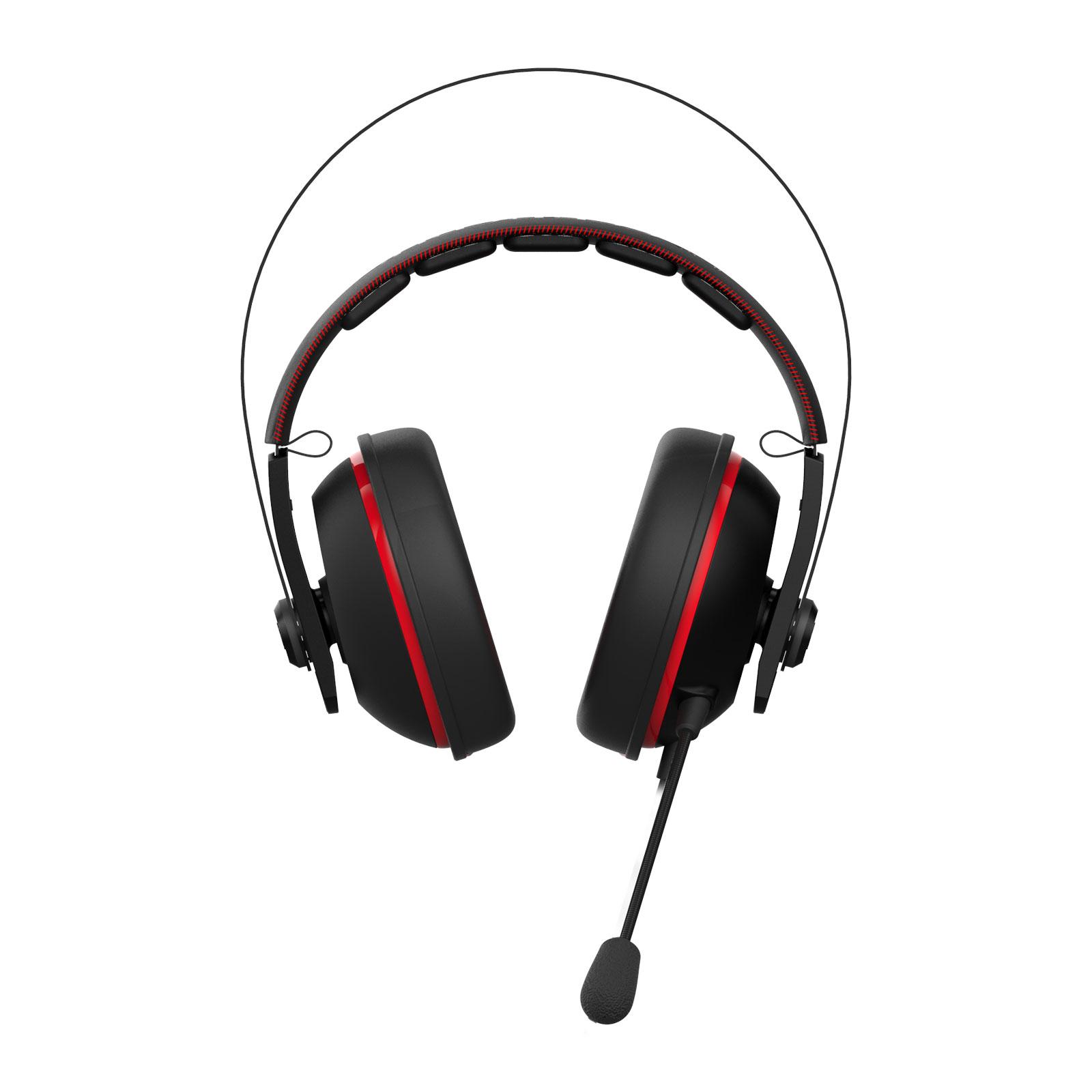 Asus Cerberus V2 Rouge Stereo Noir - Micro-casque - Cybertek.fr - 3