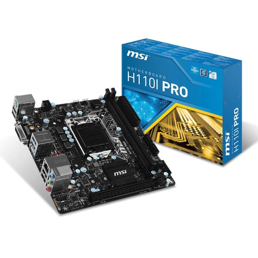 MSI H110i Pro (H110I PRO) - Achat / Vente Carte Mère sur Cybertek.fr - 0