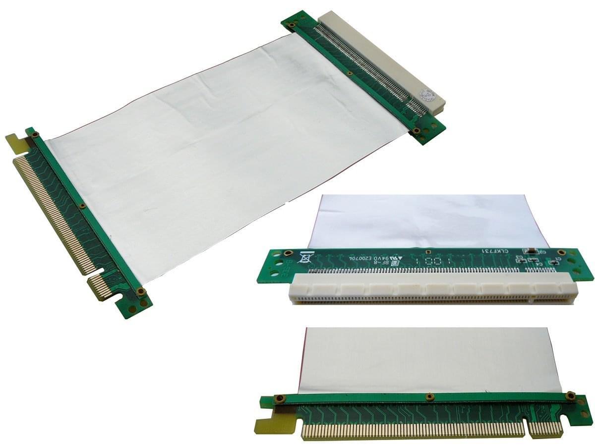 Riser PCI-E souple - Adaptateur PCI-E 16x vers 1x - Connectique PC - 0