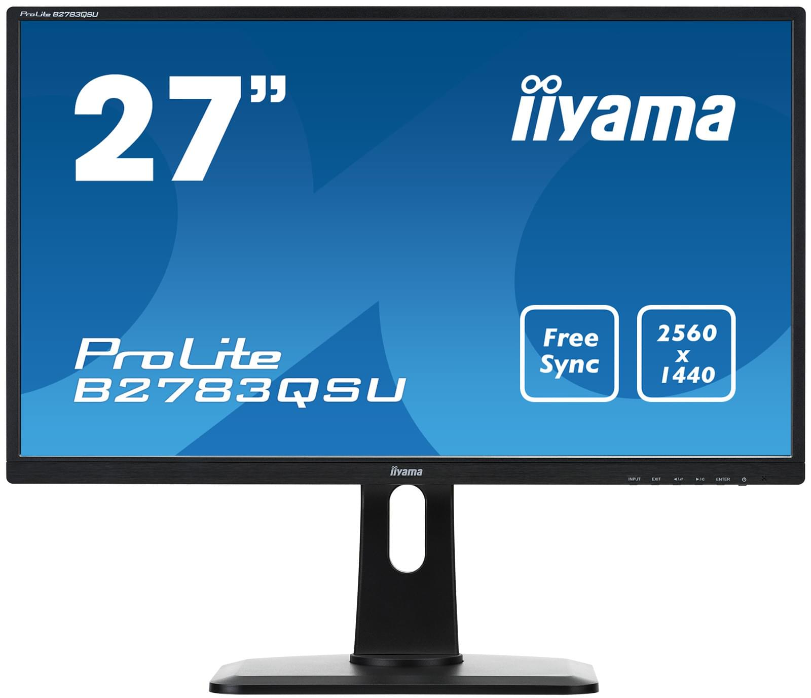 Iiyama B2783QSU-B1 (B2783QSU-B1) - Achat / Vente Ecran PC sur Cybertek.fr - 0