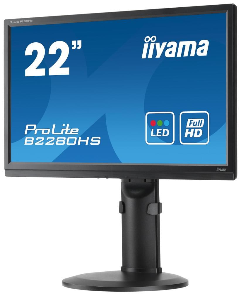Iiyama B2280HS-B1 (B2280HS-B1) - Achat / Vente Ecran PC sur Cybertek.fr - 0