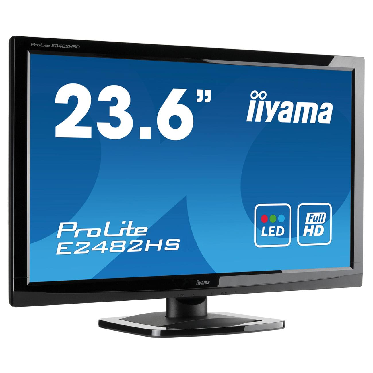 Iiyama E2482HS-GB1 (E2482HS-GB1) - Achat / Vente Ecran PC sur Cybertek.fr - 0