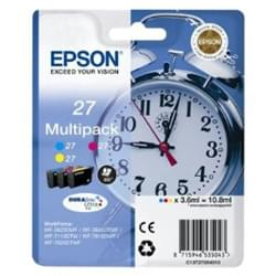 Epson Consommable Imprimante Pack de 3 Cartouches 27 (Y/M/C) - T2705 Cybertek