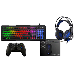 image produit The G-LAB Combo Palladium - Casque/Clavier/Souris/Tapis/Man. Cybertek