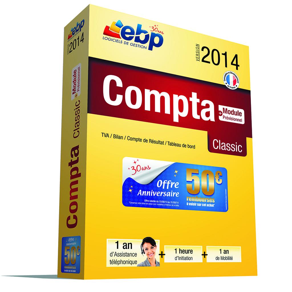 EBP Compta Classic 2014 + Services VIP (1166J061FAA) - Achat / Vente Logiciel Application sur Cybertek.fr - 0