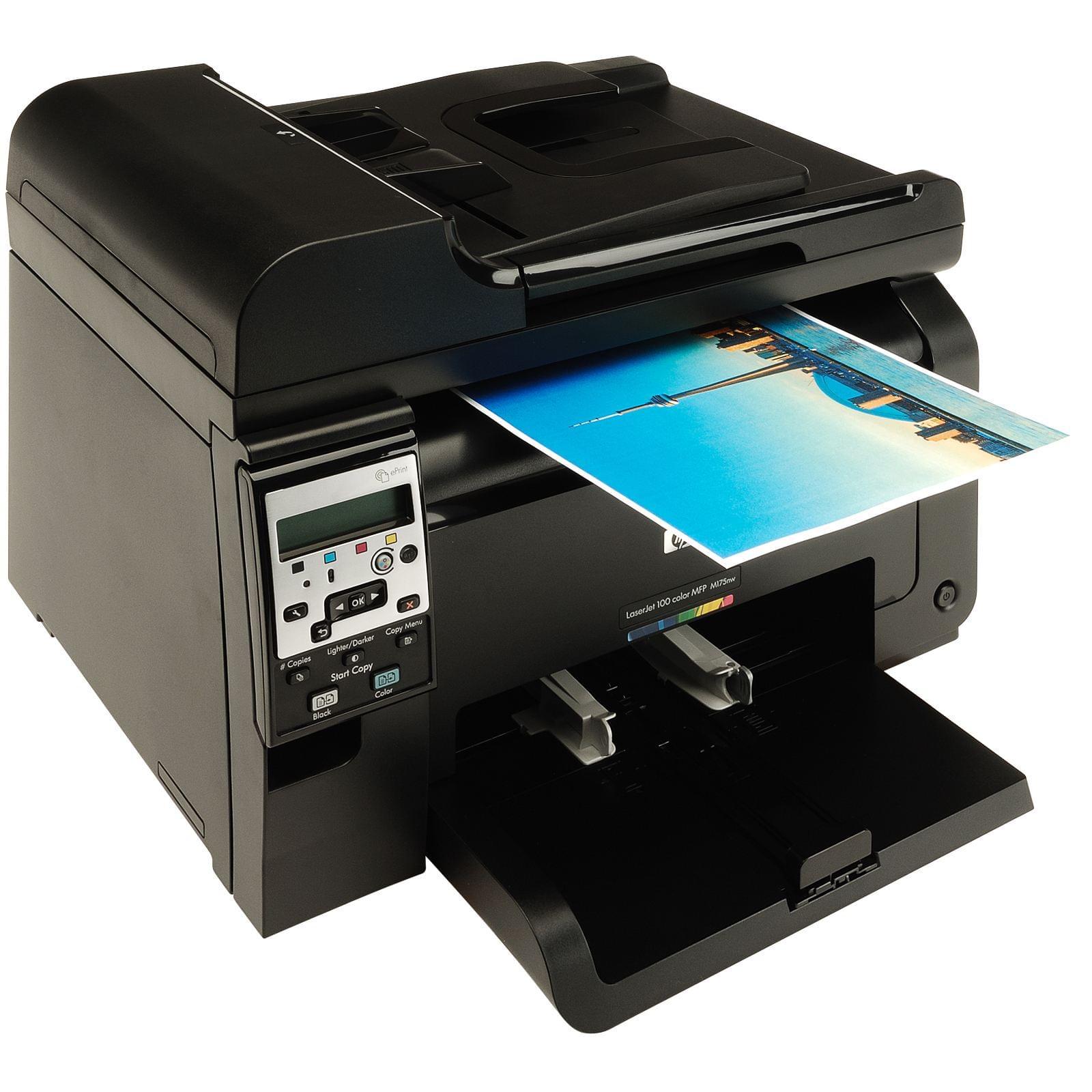HP LaserJet Pro 100 Color MFP M175nw (CE866A#B19) - Achat / Vente Imprimante Multifonction sur Cybertek.fr - 0
