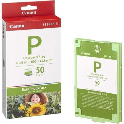 Canon E-P50 Ruban encre + papier (50f) pour SELPHY ES40 (1247B001) - Achat / Vente Consommable Imprimante sur Cybertek.fr - 0