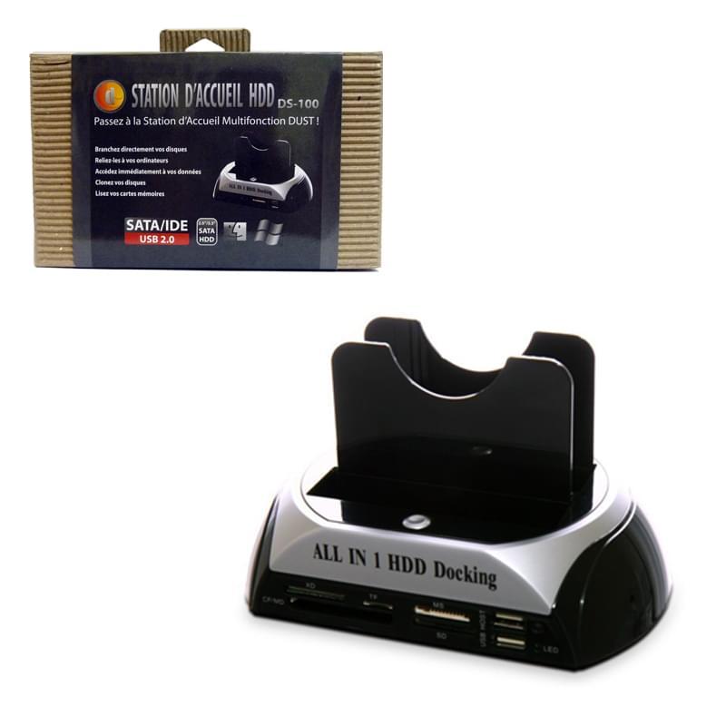 DUST Dock Station USB2 pour HDD + lect. carte (DS-100) - Achat / Vente Boîtier externe sur Cybertek.fr - 0