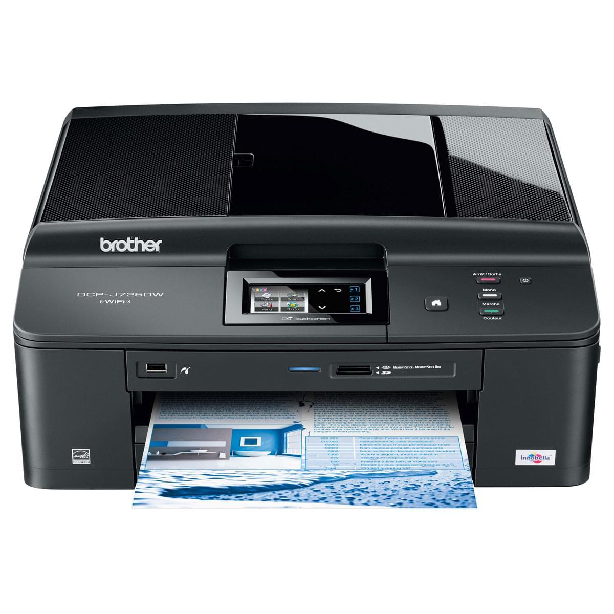 Brother DCP-J725DW (DCP-J725DW) - Achat / Vente Imprimante multifonction sur Cybertek.fr - 0