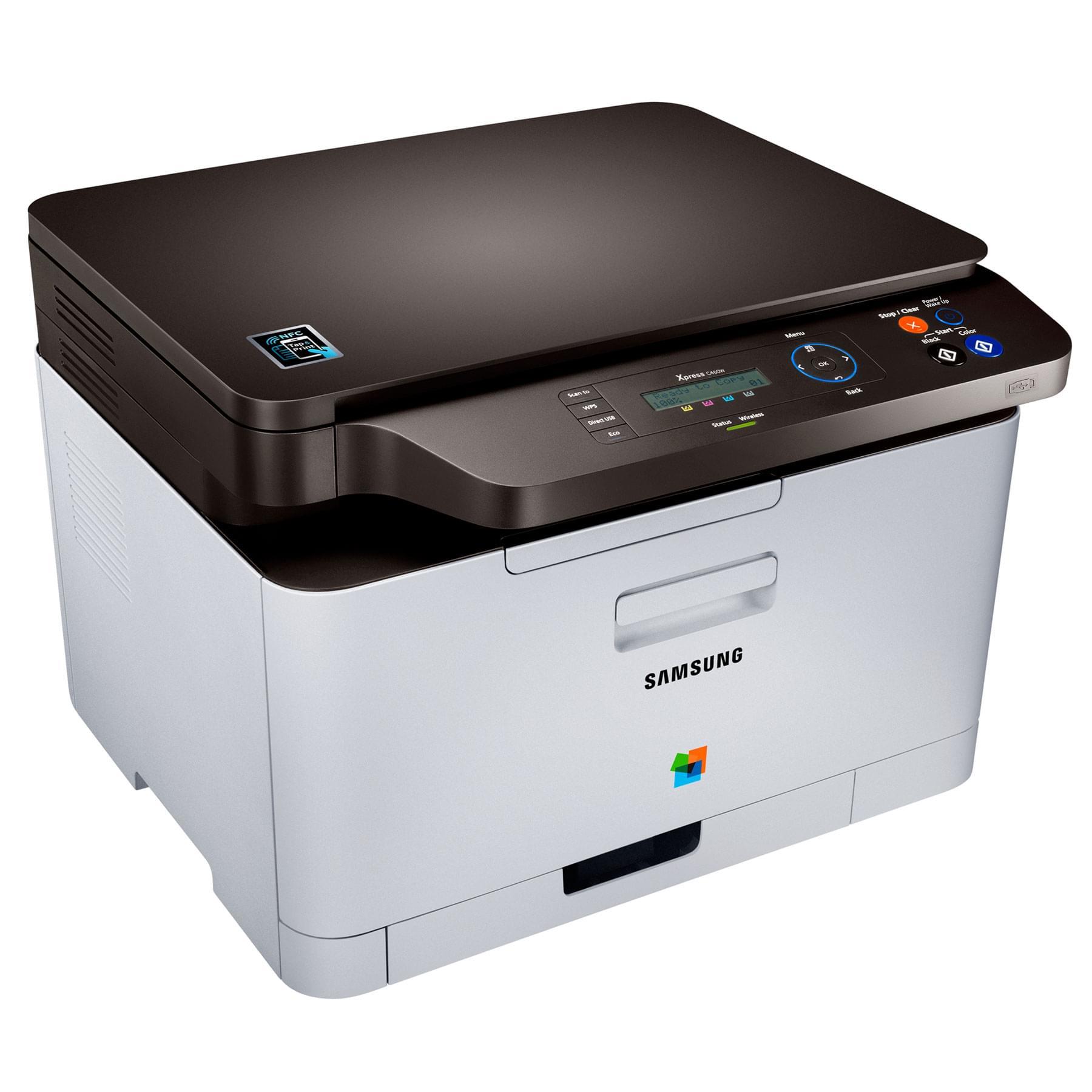Samsung SL-C460W (Laser Couleur Reseau WiFi) (SL-C460W/SEE) - Achat / Vente Imprimante Multifonction sur Cybertek.fr - 0