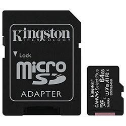 image produit Kingston Micro SDHC 64Go Class 10 + Adapt SDCS2/64GB Cybertek