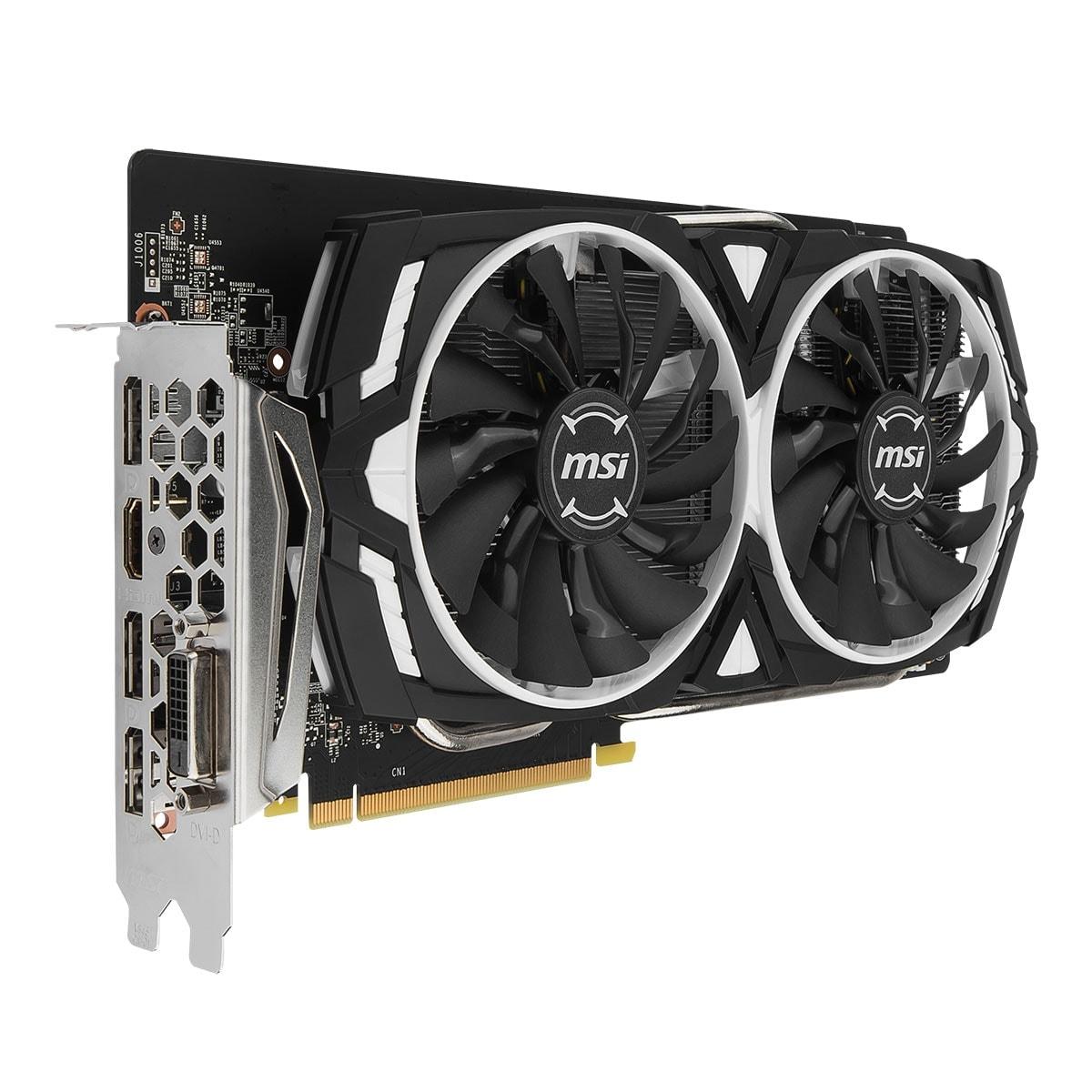 MSI nVidia GF GTX 1060 - 8Go - carte Graphique pour Gamer - GPU nVidia - 2