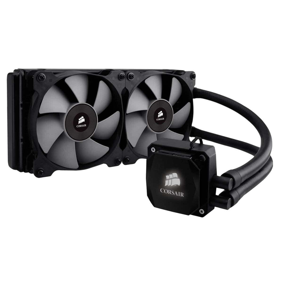 Corsair Watercooling 240mm (2x120) Hydro Series H100i - Ventilateur CPU - 0