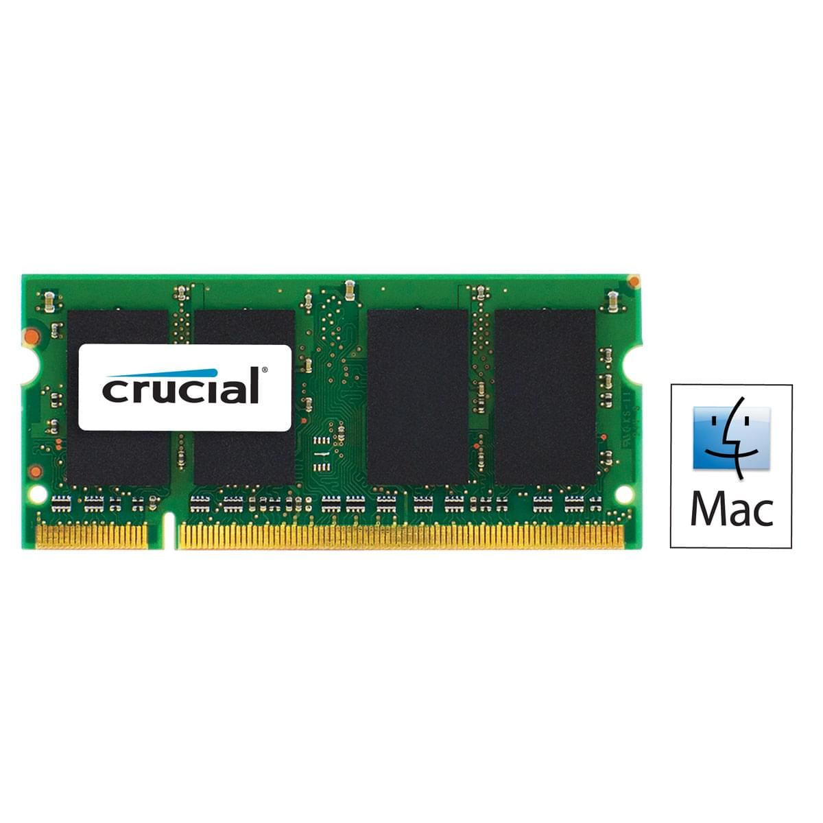 Crucial SO-DIMM 2Go DDR3 1066 for MAC CT2G3S1067MCEU SO-DDR3 - Mémoire PC portable - 0