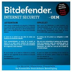 Bitdefender Logiciel-Antivirus Internet Security 2016 OEM - 1 An / 1 PC Cybertek