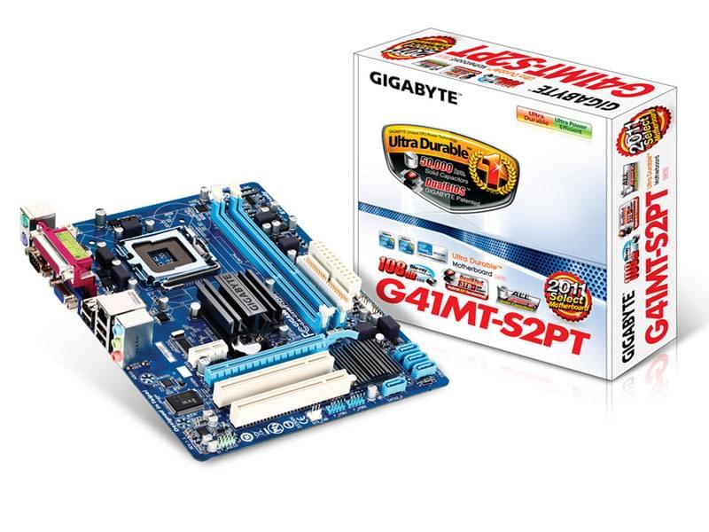 Gigabyte G41MT-S2PT (G41MT-S2PT) - Achat / Vente Carte Mère sur Cybertek.fr - 0