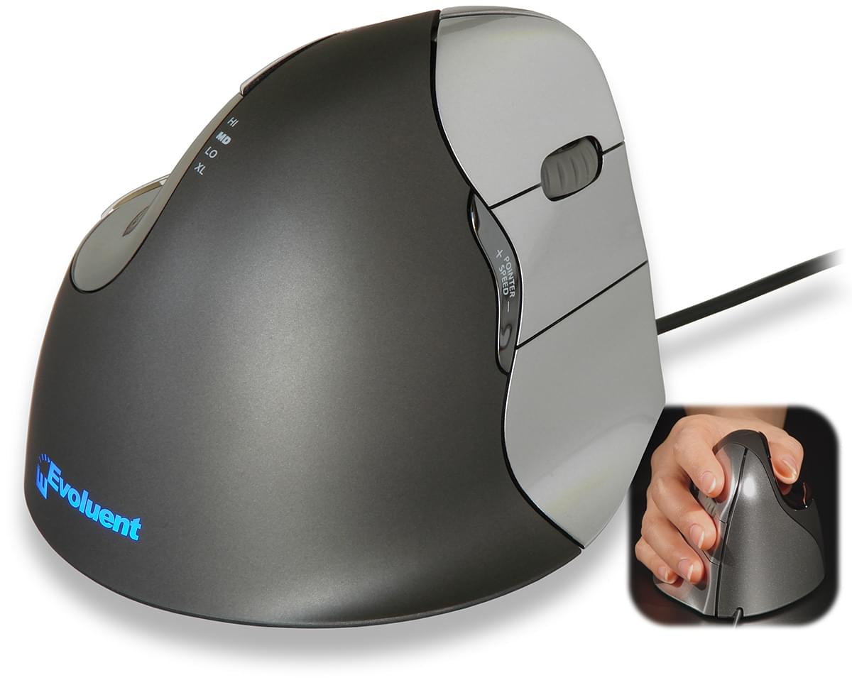 Evoluent VerticalMouse 4 Right Petite Taille - Souris PC Evoluent - 0