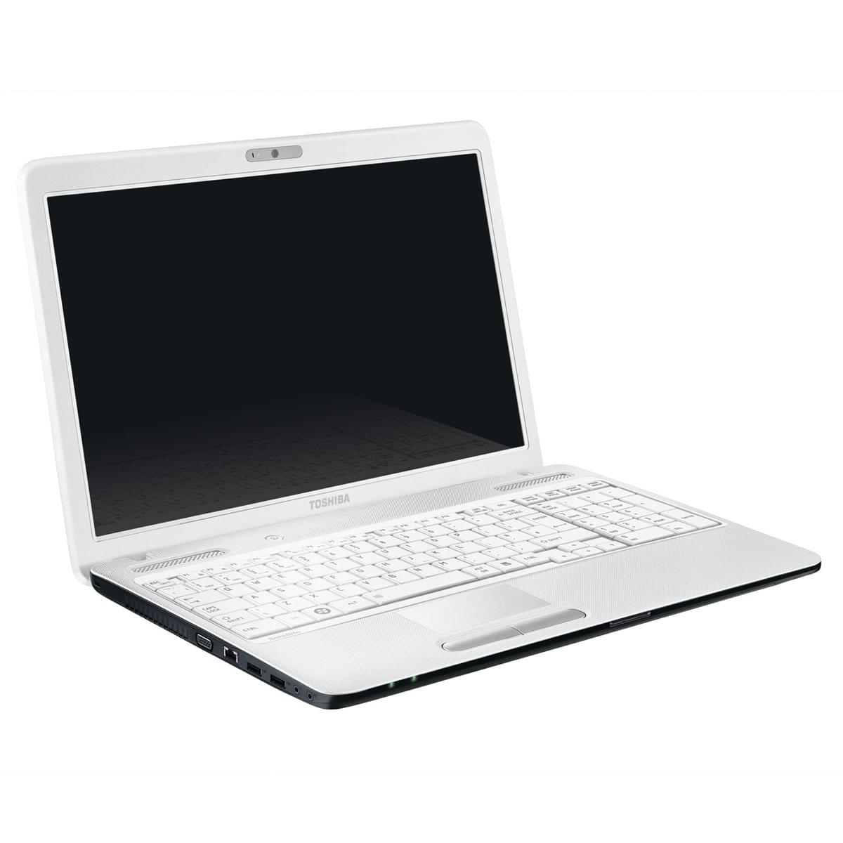 Toshiba C660-2RG Blanc (PSC0QE-06R00DFR) - Achat / Vente PC portable sur Cybertek.fr - 0