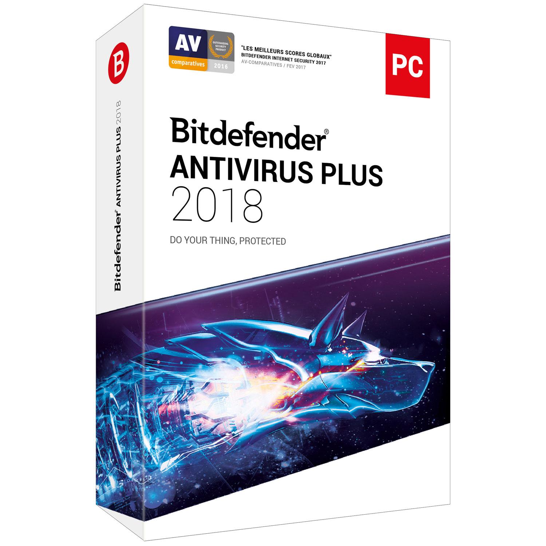 Bitdefender Antivirus Plus 2018 - 1 An / 1 PC - Logiciel sécurité - 0