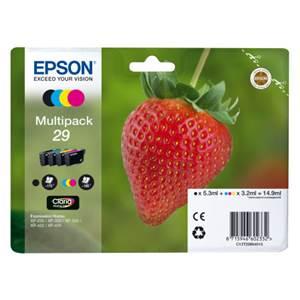 Pack Cartouche Noir et Couleurs N°29 - C13T2986402 pour imprimante  Epson - 0