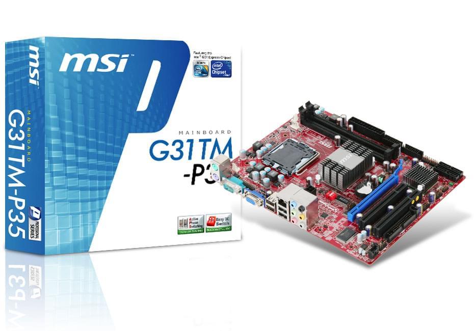 MSI G31TM-P35 (G31TM-P35) - Achat / Vente Carte Mère sur Cybertek.fr - 0