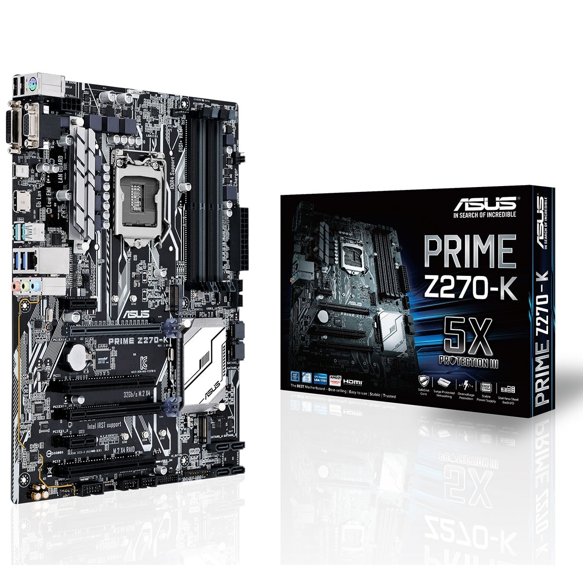 Asus PRIME Z270-K ATX DDR4 - Carte mère Asus - Cybertek.fr - 0