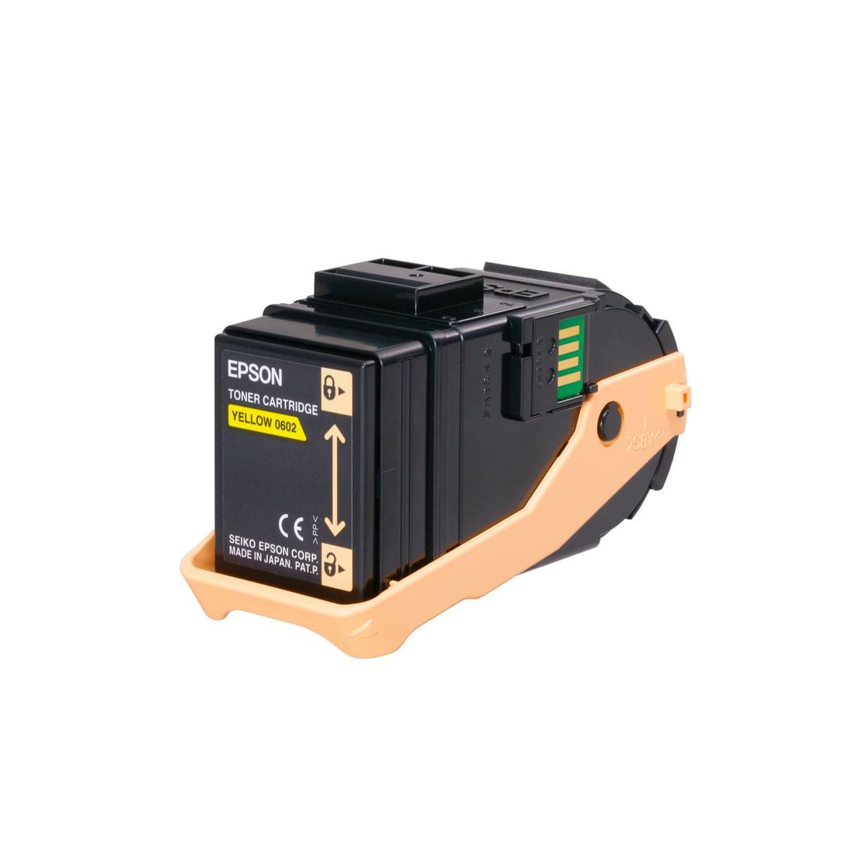 Toner Jaune 7500p - C13S050602 pour imprimante Laser Epson - 0