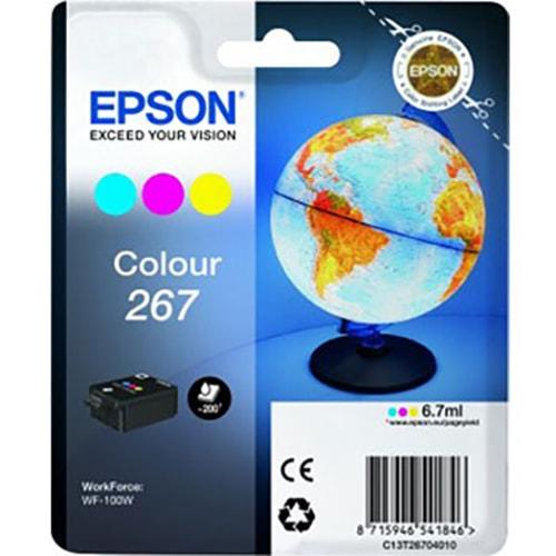 Cartouche T267 Couleurs - C13T26704 pour imprimante  Epson - 0