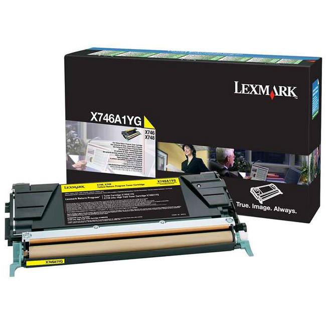 Lexmark Toner Jaune 7000p. (X746A1YG) - Achat / Vente Consommable Imprimante sur Cybertek.fr - 0