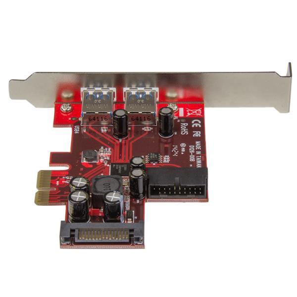 PCI-E 4 Port USB3.0 2Ext./ 2Int.(1x IDC) - Carte contrôleur - 4