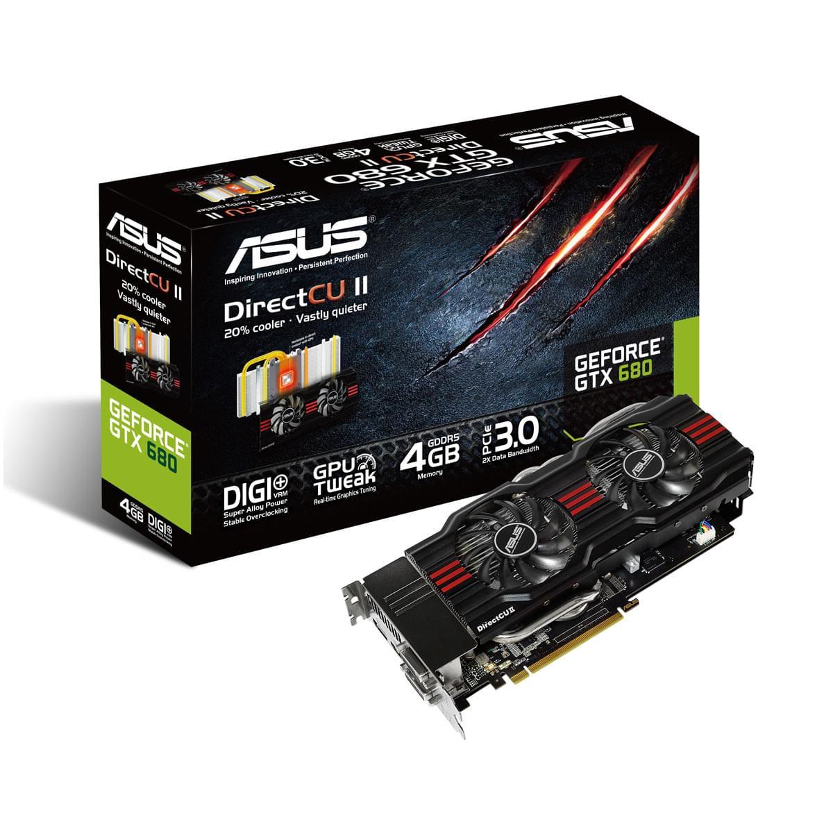 Asus GTX680-DC2-4GD5 (GTX680-DC2-4GD5 obso) - Achat / Vente Carte Graphique sur Cybertek.fr - 0