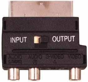 Adaptateur RCA-SVHS/Peritel IN/OUT Qualité OR - 0