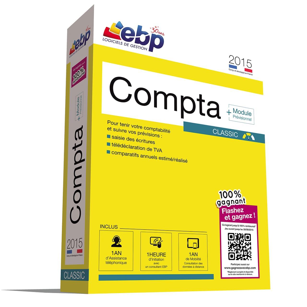 EBP Compta Classic 2015 + VIP + 100% Gagnant (1166J071FAB) - Achat / Vente Logiciel application sur Cybertek.fr - 0