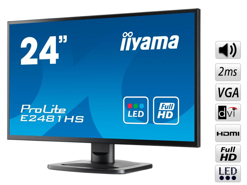 "Iiyama 24""  E2481HS-B1 - Ecran PC Iiyama - Cybertek.fr - 0"