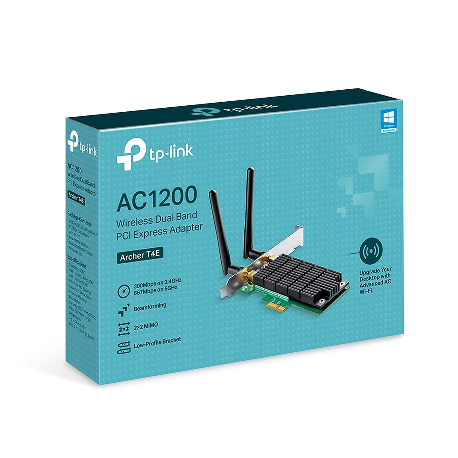 TP-Link PCI-E WiFi 802.11AC 1200Mbits - ARCHER T4E - Carte réseau - 1
