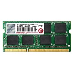 Transcend Mémoire PC portable  SO-DIMM 8Go DDR3 1333 CL9 2Rx8 JM1333KSH-8G Cybertek