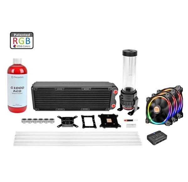 Thermaltake Pacific RL360 Tube Rigide - RGB/Rouge - Watercooling - 0