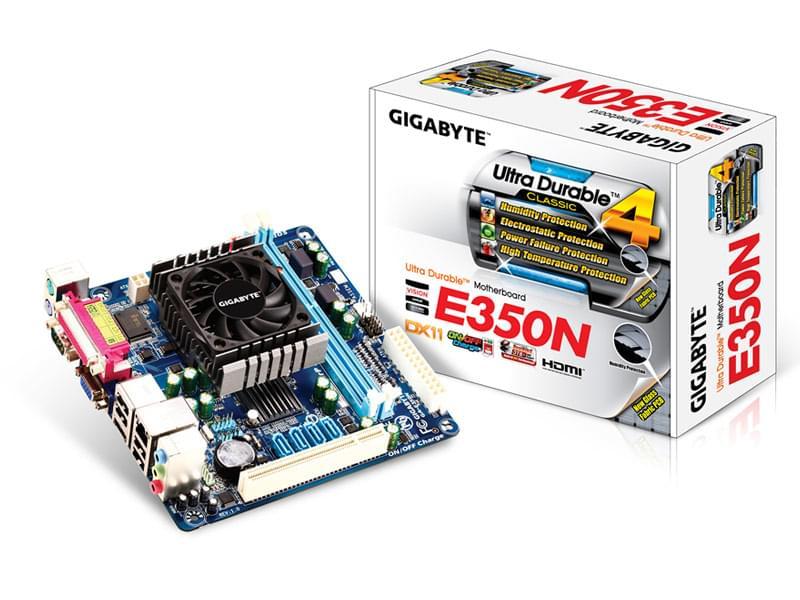 Gigabyte GA-E350N Mini-ITX DDR3 - Carte mère Gigabyte - 0