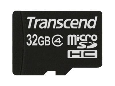 Transcend Micro SDHC 32Go TS32GUSDHC4 class 4+ Adapt (TS32GUSDHC4 arret) - Achat / Vente Carte mémoire sur Cybertek.fr - 0