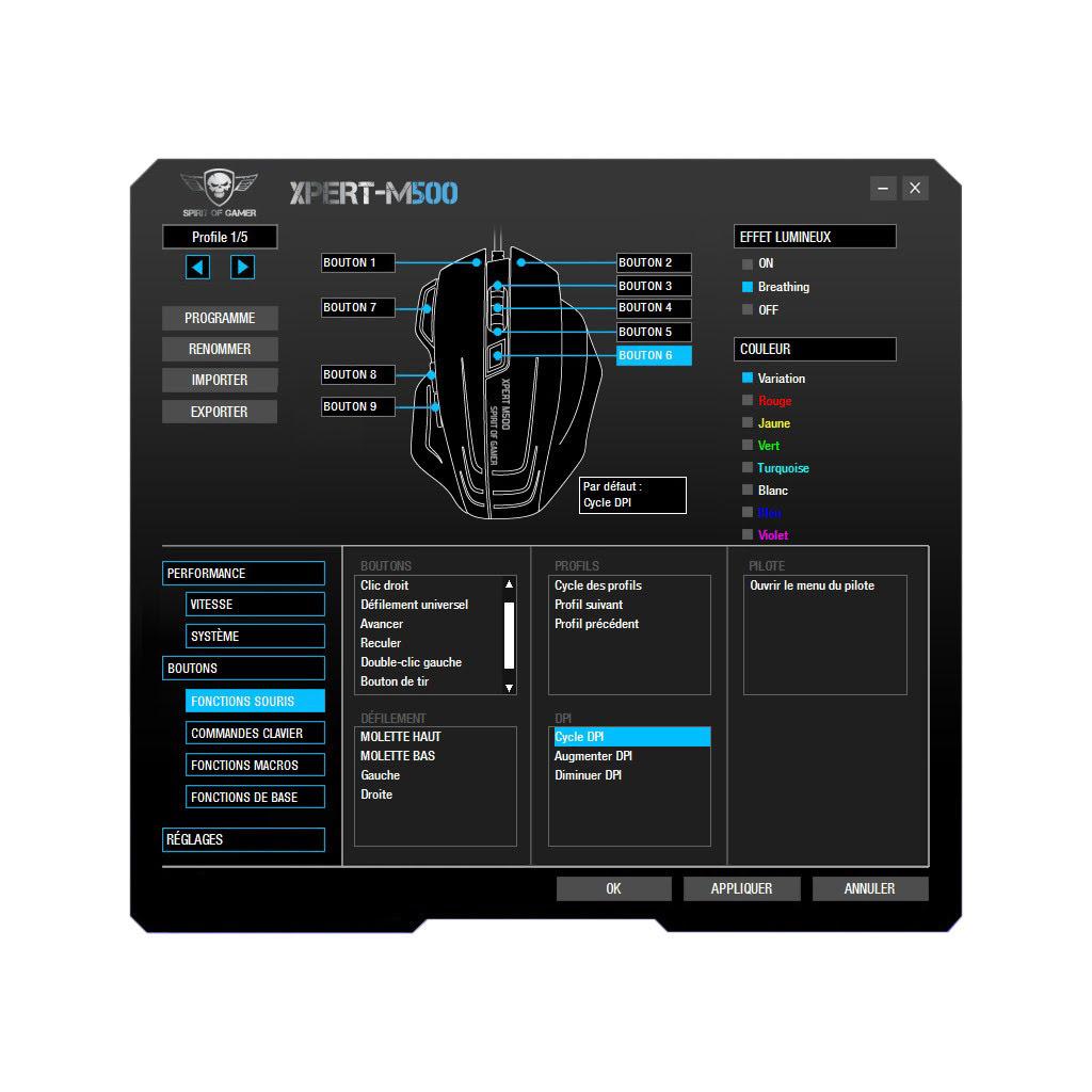 Spirit Of Gamer XPERT-M500 - Souris PC Spirit Of Gamer - 8