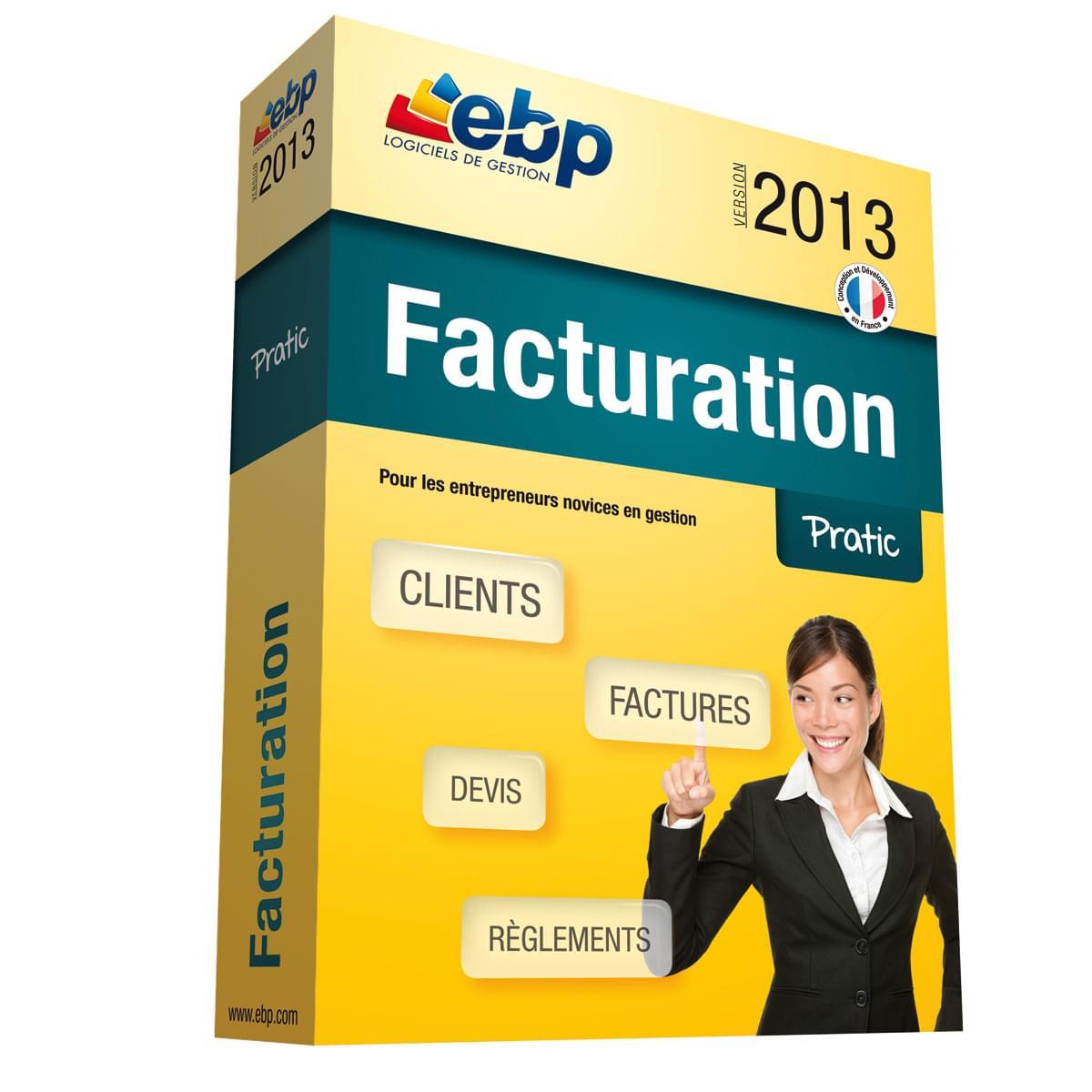 EBP Facturation Pratic 2013 (1008E050FAC) - Achat / Vente Logiciel application sur Cybertek.fr - 0