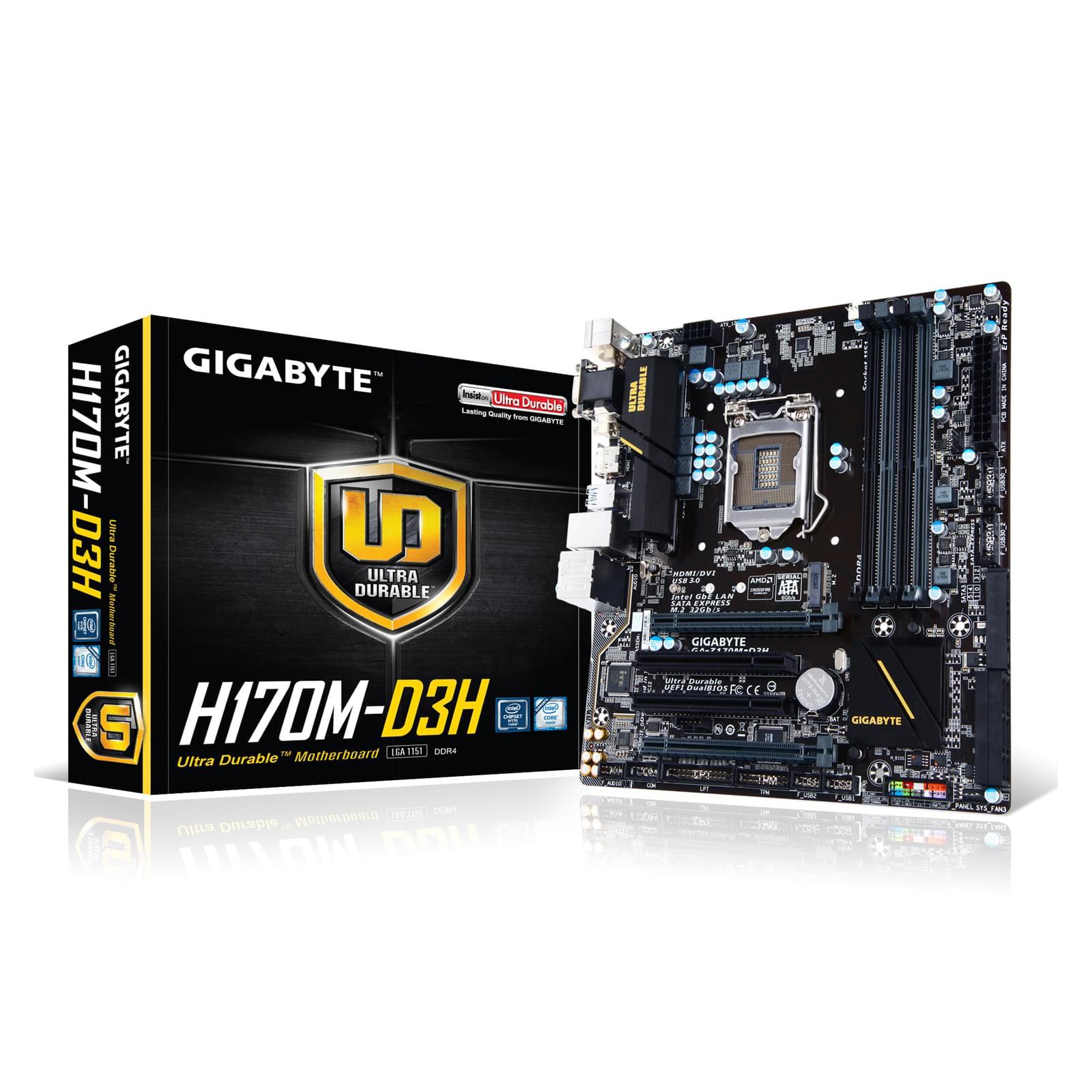 Gigabyte GA-H170M-D3H (GA-H170M-D3H) - Achat / Vente Carte Mère sur Cybertek.fr - 0