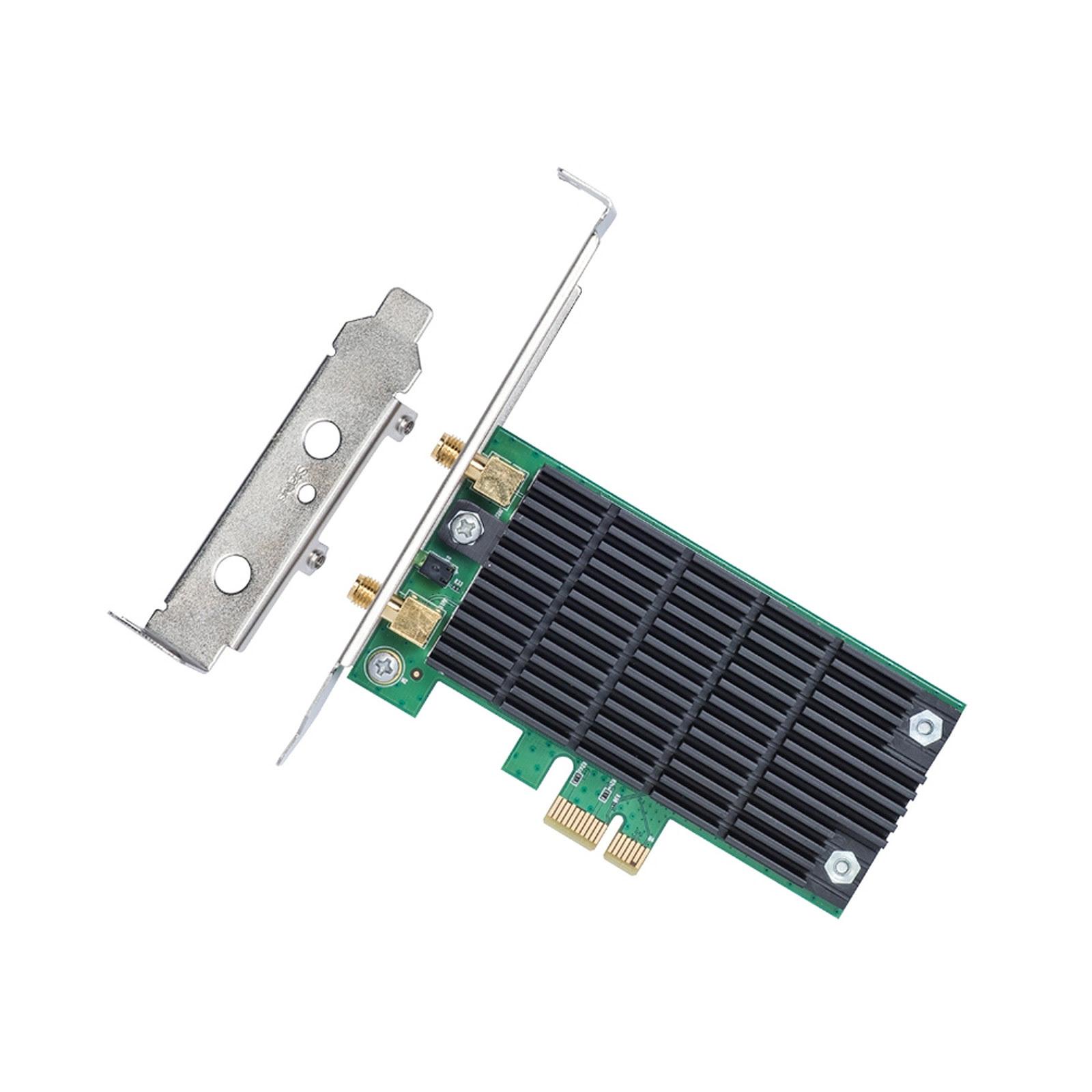 TP-Link PCI-E WiFi 802.11AC 1200Mbits - ARCHER T4E - Carte réseau - 2