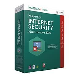Kaspersky Logiciel sécurité Internet Security 2016 Boite - 1 An / 5 PC Cybertek