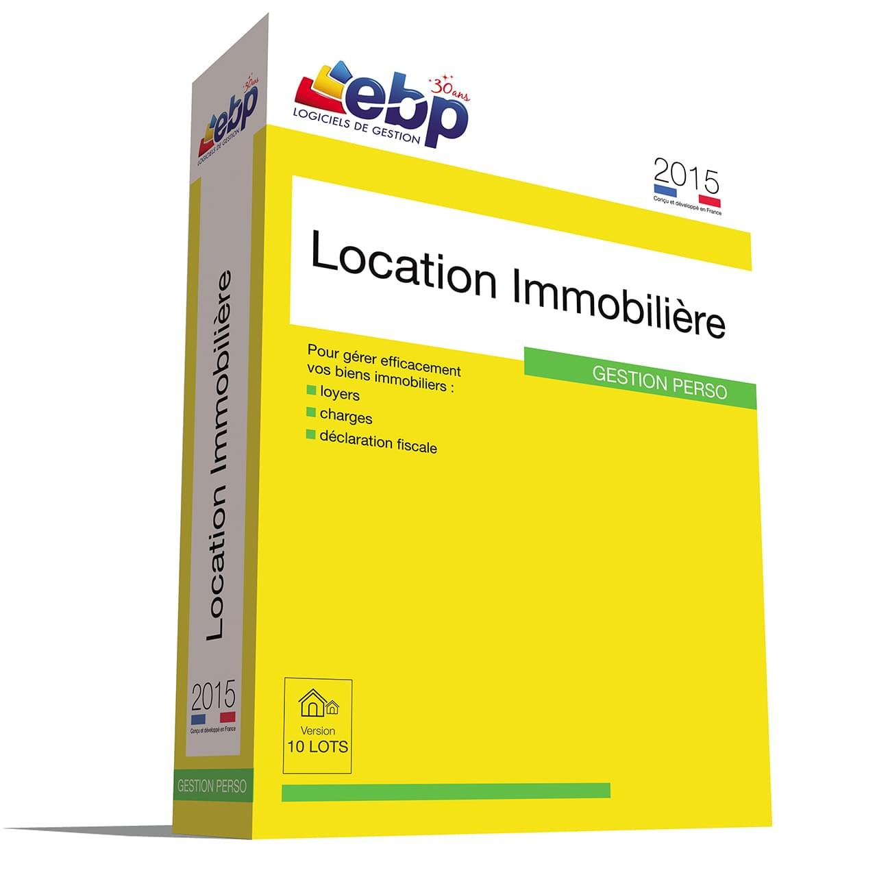 EBP Location Immobilière 2015 version 10 Lots (1053E070FAB) - Achat / Vente Logiciel application sur Cybertek.fr - 0